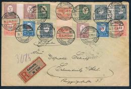 Oberschlesien 1920 - R-Brief V. Kattowitz N. Schweidnitz , Zwischensteg-Paare! - Coordination Sectors