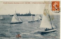 CP, 44, Nantes, Grande Semaine Maritime L.M.F. (Août 1908) - 8 Départ Des Bateaux Régatiers De 6 Mètres, Voyagé - Nantes