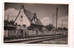 FONTAINE LAVAGANNE - La Gare - Carte-Photo 8,8 X 13,6 Cm - Peu Courant - 2 Scans - - Autres Communes