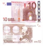 10 € IRLANDA  DRAGHI SERIE T  K007D2 FDS UNC DA MAZZETTA Cod.€.031 - EURO
