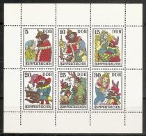 INFANCIA - DDR 1976 - Yvert #1869/74 (Minipliego) - MNH ** - Cuentos, Fabulas Y Leyendas