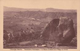 CPA 63 ROCHEFORT-MONTAGNE ,la Roche Branlante Et Le VILLAGE De DEVEIX. - Autres Communes