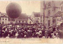 Dreux   28   Aviation  Montgolfière   Ascension Du Ballon  ( Carte Recollée) - Dreux