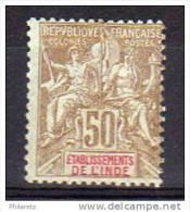 Inde N° 19 Neuf * - Cote 17,50€