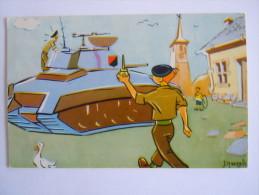 België Belgique Humor Soldat Char Soldaat Tank  J.Maezelle 1964 - Humour