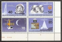 ESPACIO - DDR 1986 - Yvert #2628/31 - MNH ** - Espacio