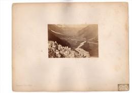 VALLEE De CHAMONIX  Haute Savoie 74 GLACIER Des Bois Vers 1860 TRES RARE TIRAGE ORIGINAL ALPES - Photos