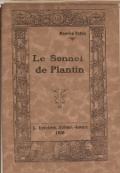 M.SABBE-LE SONNET DE PLANTIN-imprimerie-typographie-compas-Moretus-Antw Erpen-drukkerij- - Livres, BD, Revues