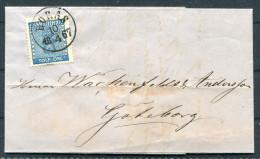 1867 Sweden 12 Ore Coat Of Arms Entire -  Boras