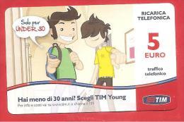 ITALIA - TIM - RICARICARD - RICARICA - TIM YOUNG - SCAD. FEBBRAIO 2015 - 5 EURO - Schede GSM, Prepagate & Ricariche