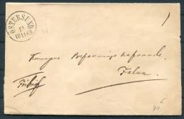 1865 Sweden Ostersund Fribrief Freeletter Wrapper