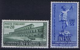 Italy  Sa 618-619  Mi 791-792 1950, MH/* - 6. 1946-.. Repubblica