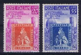 Italy  Sa 653-654  Mi 826-827 1951, MH/* - 6. 1946-.. Repubblica