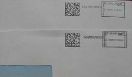 België 2013 Collect & Stamp (dubbele Afdruk) - Máquinas Franqueo