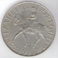 GREAT BRITAIN / GRAN BRETAGNA - ELIZABETH II - CROWN - SILVER JUBILEE 1977 - 1971-… : Monete Decimali