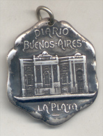 DIARIO BUENOS AIRES - LA PLATA - A FAUSTINO BRUGHETTI - SEGUNDO PREMIO EXPOSICION DE PINTURA AÑO 1904 UNIQUE UNICA - Professionals / Firms