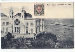 PUGLIA BARI TEATRO MARGHERITA SUL MARE ,ED.CAPITANEO -LIBRERIA ,1314. CARTOLINA 1927 - Bari