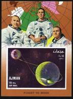 Ajman BF 288A Trajectory Of Apollo 8, Non Dentele, Neuf** Sans Charniere - Space