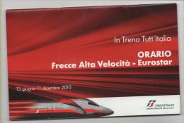Alt281 Orario Treno Timetable Train, Horaires, Alta Velocità Eurostar, Trenitalia, High-speed Rail, Grande Vitesse - Europa