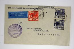 Netherlands East Indies  Airmail Cover First Flight Batavia - Balipapan, Java Borneo 1936, Cat Nr 125 C