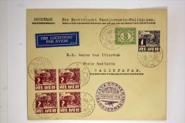 Netherlands East Indies Airmail Cover First Flight Bandjermasin - Balipapan, Java Borneo 1936, Cat Nr 125 D