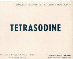 - BUVARD TETRASODINE - 174 - Produits Pharmaceutiques