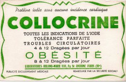 - BUVARD  Dragées COLLOCRINE - Pli Au Centre - 180 - Drogheria