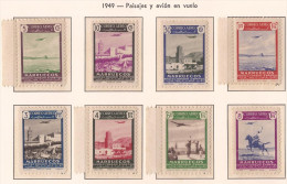 MA297-L3058TARM.Maroc .Marocco.MARRUECOS  ESPAÑOL.PAISAJES Y AVION.1949.(Ed  297/04**) Sin Charnela.LUJO - Mezquitas Y Sinagogas