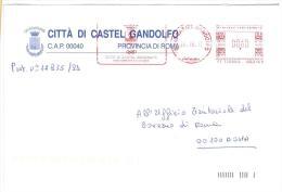CASTEL GANDOLFO - 00040 - ROMA - ANNO 2012 - AMR - TEMATICA COMUNI D´ITALIA - STORIA POSTALE - Affrancature Meccaniche Rosse (EMA)