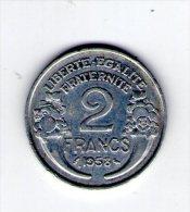 monnaie , France , 2 francs  , 1958
