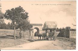 Algerie - Aumale - Courrier De Rou - Saada , Arrivant A La Porte Sud  - Diligence  - Joli  Plan -  CPA ° TAE - Algeria