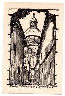 Cpa 77 - Provins - Ruelle Potis Et Saint-Quiriace - Illustrateur ? (signée) - Provins