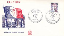 REUNION - LETTRE FDC AFFRANCHIE N° 349 A  13 FEV 1966