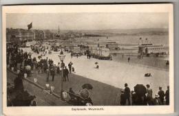 Dorset - Weymouth, Esplanade - Postcard 1905 - Weymouth