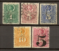 CHILE  CILE   N. 21-23-24-25-41/US  -  1878/1900  -   Lot Lotto - Chili