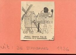 Krantenknipsel De Standaard - Molen Lotenhulle - Maurice Van De Moortele - 1936 - Non Classés