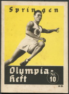 1936 Berlin Olympics Olympia Heft 10 Springen Athletics  Booklet - Libros