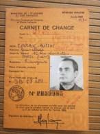 1969 : Carnet De Change : Achat Et Rétrocession De Devises Banque , Crédit Lyonnais Tourisme Paris Timbre Fiscal à Sec - Mapas