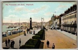 Dorset - Weymouth, Promenade - Postcard 1910 - Weymouth