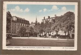 07 ANNONAY PLACE DES CORDELIERS  1950.. 2 SCANS - Annonay