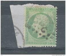 France, Empire  , Yvert N° 20 , 5 C VERT Sur JAUNATRE , Obl Sur Fragment, TB - 1862 Napoleon III