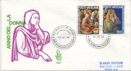 VATICANO - FDC VENETIA 1975  - ANNO DELLA DONNA - VIAGGIATA IN RACCOMANDATA PER ROMA - FDC