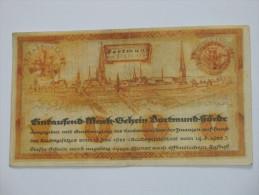1000 Mark -  1922 - Germany - Dortmund - 1000 Rentenmark