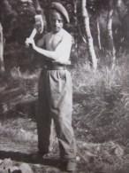 """Photo Photographie Historique Chantier De Jeunesse En Pleine Guerre 1941 Période Pétain """" Jeune Volontaire""""Salzbuxy Obus - War, Military"""