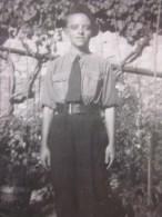 """Photo Photographie Historique Chantier De Jeunesse En Pleine Guerre 1941 Période Pétain"""" Jeune Volontaire""""Salzbuxy Obus - War, Military"""