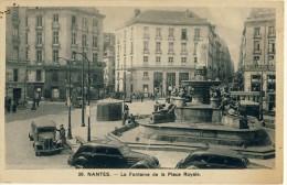 CP, 44, Nantes, La Fontaine De La Place Royale, Ecrite - Nantes