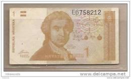 Croazia - Banconota Circolata Da 1 Dinaro - 1991 - - Croatia
