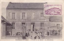 CPA - 89 - PLESSIS SAINT JEAN - L'école Et La Mairie - La Récréation - France