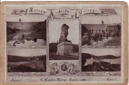 PHOTO 165 X 110mm TRAVAUX Barrage De La GILEPPE (Liège-Belgique) 1898 RARE Photo FRANKEN, EUPEN - Ancianas (antes De 1900)