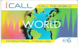 SPAIN - Icall Prepaid Card 6 Euro, Used - Spain